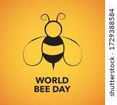 world bee day illustration on... | Shutterstock . vector #1729388584