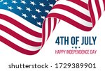 4th of july  happy independence ... | Shutterstock .eps vector #1729389901