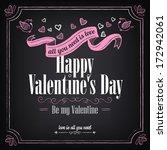 valentine's day vintage card... | Shutterstock .eps vector #172942061