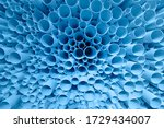 Blue Plastic Pipes Used In...