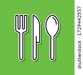 cutlery sticker icon. simple...