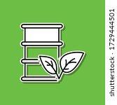 bio fuel sticker icon. simple...