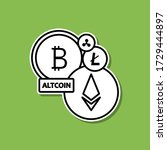 altcoins sticker icon. simple...