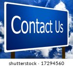 Contact Us sign guidepost - stock photo