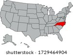 vector map of the united states ...   Shutterstock .eps vector #1729464904