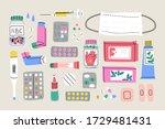 various medical equipment ...   Shutterstock .eps vector #1729481431