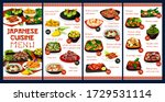 japanese cuisine menu cover... | Shutterstock .eps vector #1729531114
