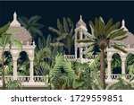 border with jungle trees and...   Shutterstock .eps vector #1729559851