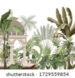 border with jungle trees and...   Shutterstock .eps vector #1729559854