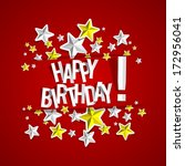 happy birthday card with stars... | Shutterstock .eps vector #172956041