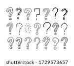 set of handwritten question... | Shutterstock .eps vector #1729573657