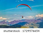 Flying Paraglider From The...