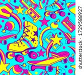 character seamless pattern with ... | Shutterstock .eps vector #1729588927