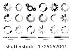 load icon. loading circle... | Shutterstock .eps vector #1729592041