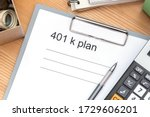 401 K Plan List With Folder ...