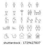 people family outline icons set ... | Shutterstock .eps vector #1729627837