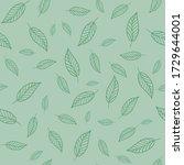 seamless floral pattern vector... | Shutterstock .eps vector #1729644001