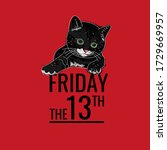 friday the 13th typography text ... | Shutterstock .eps vector #1729669957