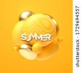 hello summer. abstract... | Shutterstock .eps vector #1729694557