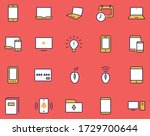set of smart devices and... | Shutterstock .eps vector #1729700644