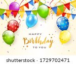colorful balloons isolated on...   Shutterstock . vector #1729702471