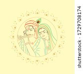 radhakrishna. vector...   Shutterstock .eps vector #1729708174