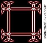 celtic border frame based on...   Shutterstock .eps vector #172970939
