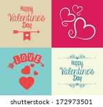 love design over  colors... | Shutterstock .eps vector #172973501