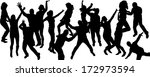 vector silhouette dancing and... | Shutterstock .eps vector #172973594