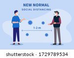 new normal after the epidemic...   Shutterstock .eps vector #1729789534