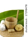 bath accessories with leaf on... | Shutterstock . vector #17298478