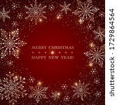 christmas dark red background... | Shutterstock .eps vector #1729864564