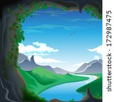 mountains  caves  mountain... | Shutterstock .eps vector #172987475