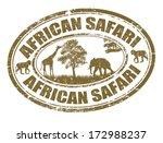 african safari grunge rubber... | Shutterstock .eps vector #172988237