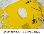 sewing medical mask at home... | Shutterstock . vector #1729885027