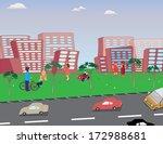 children play in the... | Shutterstock .eps vector #172988681