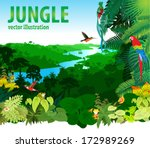 vector illustration river in... | Shutterstock .eps vector #172989269