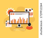 analytics graph and seo... | Shutterstock .eps vector #1729912264