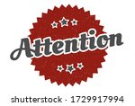 attention sign. attention round ... | Shutterstock .eps vector #1729917994