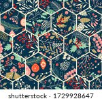 merry christmas  happy new year ... | Shutterstock .eps vector #1729928647