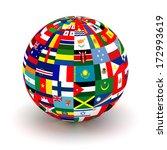 planet flags. 3d | Shutterstock . vector #172993619