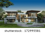 3d render of tropical house at... | Shutterstock . vector #172995581