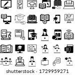 online education icon set.... | Shutterstock .eps vector #1729959271