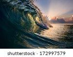 beautiful ocean surfing... | Shutterstock . vector #172997579