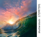 beautiful ocean surfing... | Shutterstock . vector #172997591