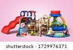 goods for kids childrens...   Shutterstock . vector #1729976371