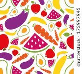 fruits and vegetables seamless... | Shutterstock .eps vector #172997945