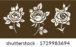 set of decorative vintage... | Shutterstock .eps vector #1729983694