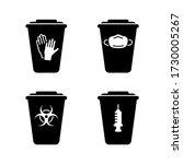 silhouette set of medical waste ... | Shutterstock .eps vector #1730005267
