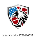 shield with eagle head and... | Shutterstock .eps vector #1730014057
